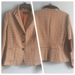 Talbots Plaid Jacket w/elbow patches